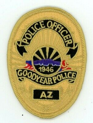 GOODYEAR POLICE ARIZONA AZ COLORFUL PATCH 3 1//4 INCHES TALL