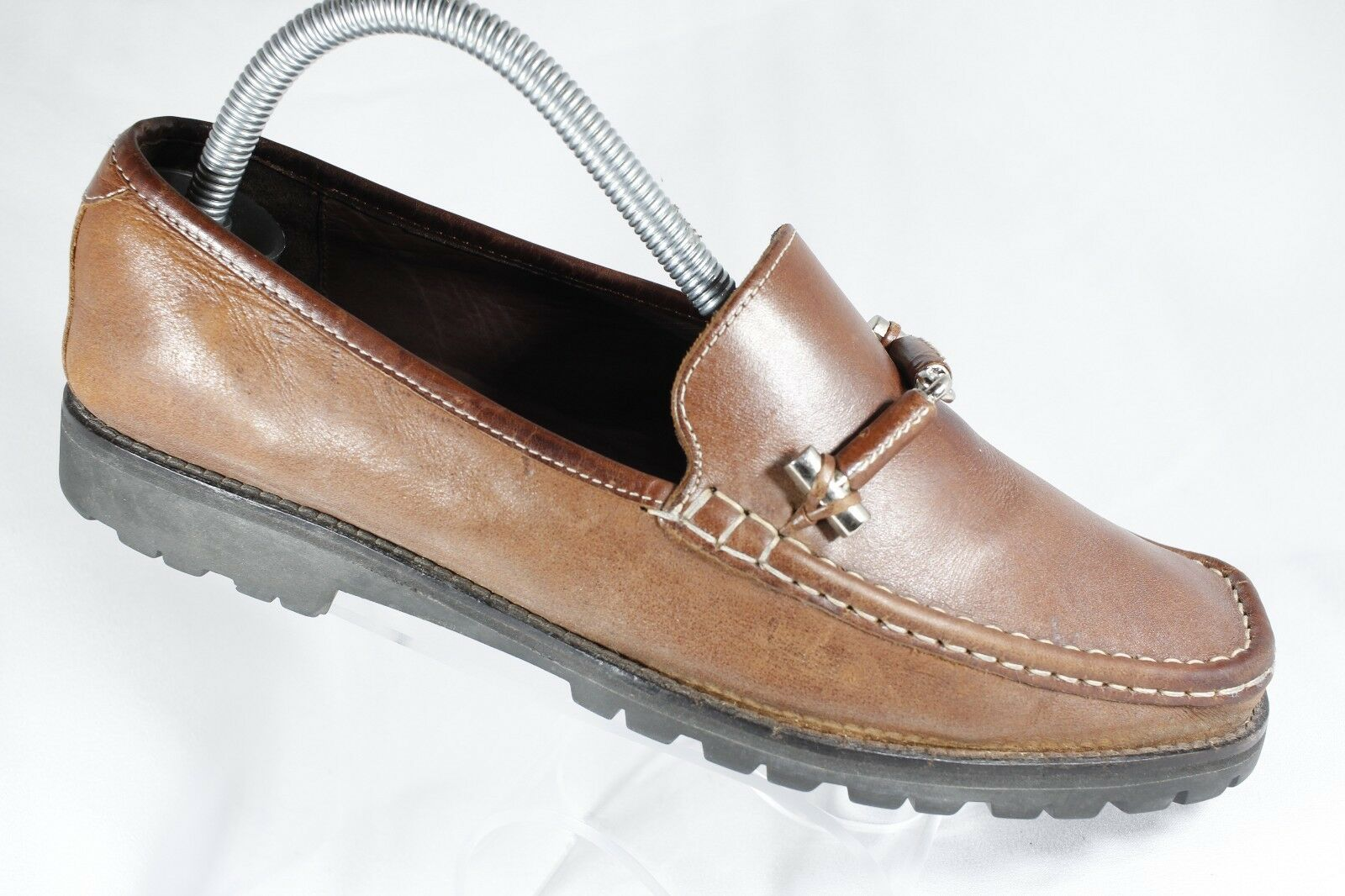 Cole Haan Women's Size 8.5B Brown Leather Horse Bit Casual Loafers shoes D18086