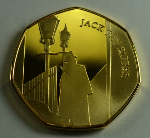 Pair JACK THE RIPPER Silver /& 24ct Gold Commemorative Coin Albums//50p Collectors