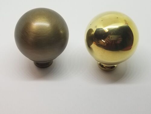 """LARGE 2/"""" BRIGHT BRASS bed ball finial post cannon frame rail antique decoration"""