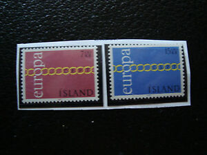 Iceland-Stamp-Yvert-and-Tellier-N-404-405-N-A22-Stamp-Iceland