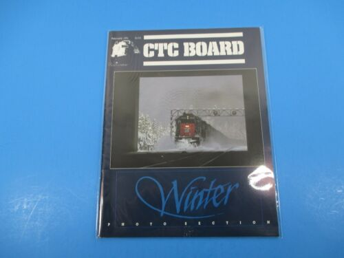 CTC Board Magazine Railroads Illus. February 1991 Winter Photo Section M4022