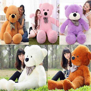 Giant Larger Hung big Teddy Bear 100% cotton Plush Soft Toy Doll Baby Xmas Gift