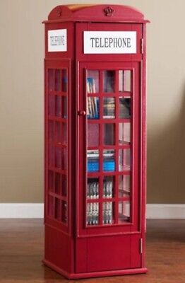 Gentil Phone Booth Cabinet Book Case Red Dr Who Storage Media CD Shelves British  Fun 784228861017 | EBay