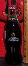2000 FORT PIERCE CENTENNIAL 1901 - 2001 8 OUNCE GLASS COCA - COLA BOTTLE