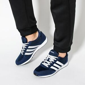 Details about Adidas Mens V Racer 2.0 Neo Sport Style Walking Shoes Blue White B75795 NEW