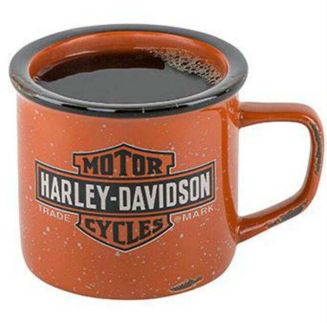 Harley-Davidson® Long Bar & Shield Campfire Stoneware Coffee Mug 14oz HDX-98620