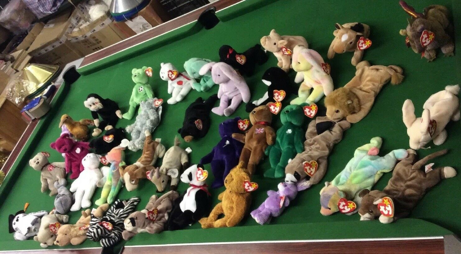 Collection 38 of TY Toys Mostly Beanie Babies Toys Nice Condition all with tags