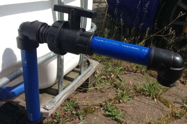 ASR290Y Auslaufstutzen mit Rohr und Y-Verteiler für Gardena IBC-Container-Garten