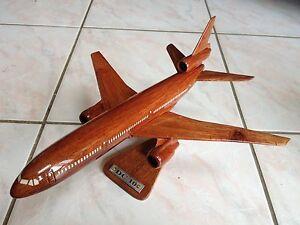 Maquette Avion Dc10 En Bois 45 Cm Neuf