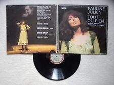 """LP PAULINE JULIEN """"Tout Ou Rien (Récital Brecht)"""" TELSON AE-1502 CANADA §"""