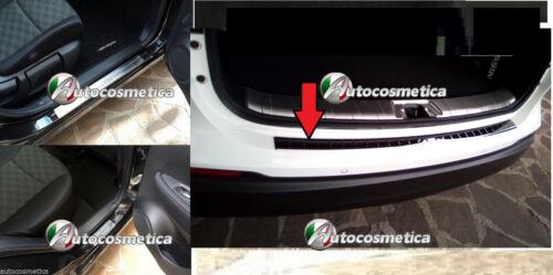 4 battitacchi+battivaligia paraurto post acciaio satinato Nissan Qashqai 17-18