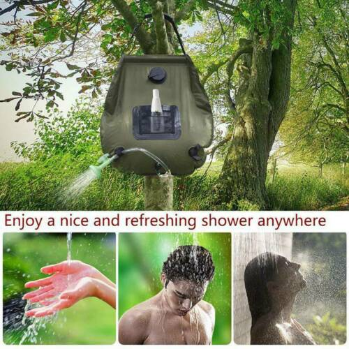 20L Solar Heated Shower Bag Portable Camping Outdoor Hiking Bathing Water B New