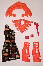 Monster High Ghouls Getaway Meowlody Doll Outfit Clothes Tiki Dress & Shoes NEW