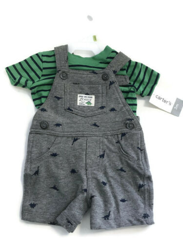Baby Boys/' Carter/'s Graphic Grey T-Shirt With Short Set 3 Months