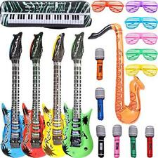 Set of 6 Inflatable PVC Microphone DJ Music Rock Star Favors Kids Party Toy O9V2