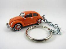 1964 1965 1966 VOLKSWAGEN VW BEETLE Bug Orange Key FOB Keyring Keychain