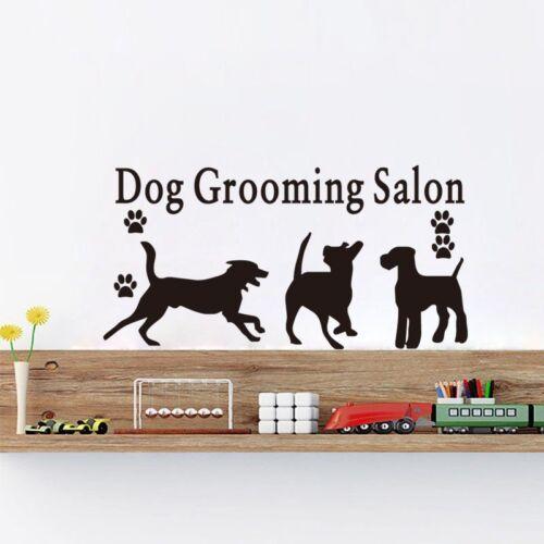 Dog Grooming 3 Hunde Hundesalon Wandtattoo Wallpaper Wand Schmuck 44 x 87 cm