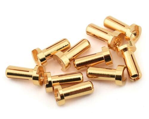 10 12mm Long RDGRP-0182 Ruddog 4mm Gold Male Bullet Plug