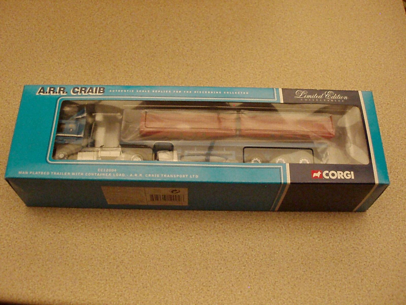 Corgi 1 50 CC12004 MAN Flatbed Trailer A.R.R Craib Transport Undisplayed
