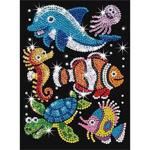 Sequin-Art-Junior-Sealife-Craft-Kit-0908-FREE-POSTAGE