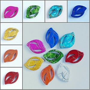 20-x-LARGE-FLAT-OVAL-DRAWBENCH-ACRYLIC-BEADS-CHOOSE-COLOUR-25-x-17-x-4-MM