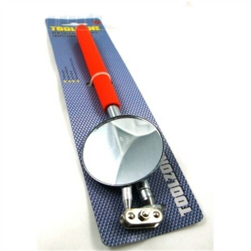 Toolzone 5cm Round Ext Inspection Mirror Telescopic Extending Large Angle