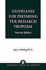 GUIDELINES FOR PREPARING THE RESEARCH PROPOSAL - NEW PAPERBACK BOOK