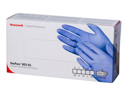 200 x Nitrile Gloves PowderFree Safe Guard Protective by Honeywell Medium Large