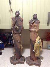 2 statutes!!!!! Vintage Lan Spurgers COLLECTION - J.H. Boone Native American