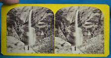 1860s Suisse Stereoview Chute Des Pelerius Chamonix Savoie Alpine Club W England