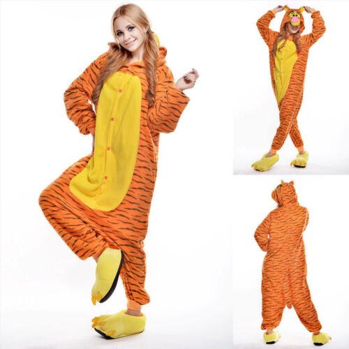 Unisex Adult Winnie The Pooh Flannel Onesis Cosplay Costume Kigurumi Pajamas