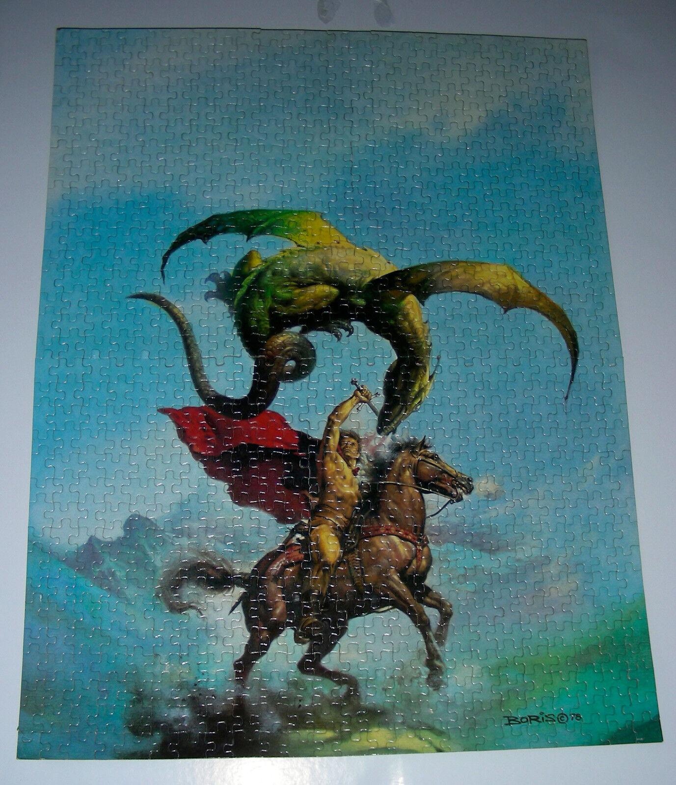 BORIS VALLEJO Fantasie puzzle 1981 Waddington 750 FliegenING SERPENT Complete rare