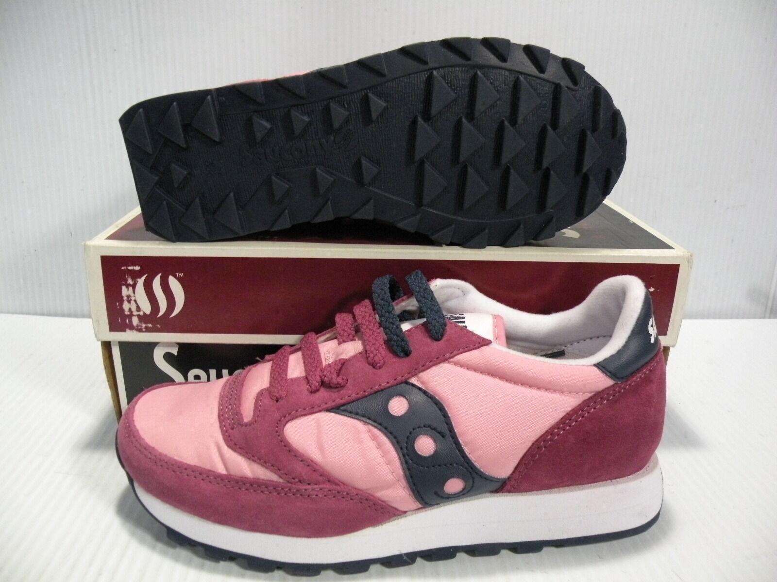 Saucony Jazz Original Baja Zapatillas Zapatos Zapatos Zapatos Para Mujeres Ciruela rosado 1044-146 Talla 5.5 Nuevo  promociones de equipo
