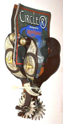 Reinsman Circle R CR570 buckaroo Mens western spurs w/jinglebobs ...
