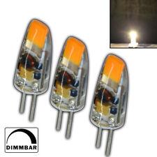3x G4 COB LED 1,5 Watt 12V AC/DC warmweiß A++ Leuchtmittel Lampe Birne dimmbar