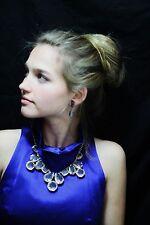 Kate Spade COATED SETTING Crystal Kaleidoscope Jumbo JEWELS ICE CLEAR NECKLACE
