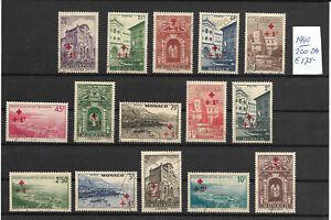MONACO-1940-Yvert-200-214-175-00-MON21