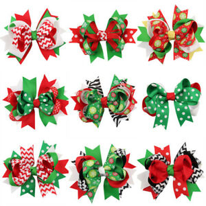 1Pcs-Xmas-Ribbon-Bow-Hair-Clip-Hairpin-Hair-Accessories-for-Kids-Baby-Girls