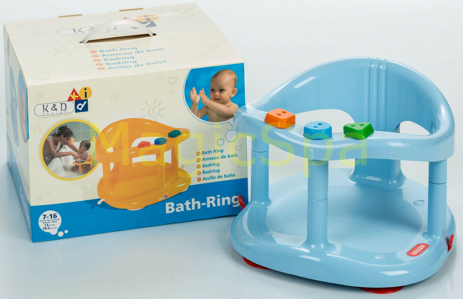 Infant Baby Bath Tub Ring Seat Keter Blue Fast Shipping