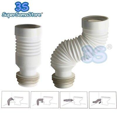 Amichevole 3s Tubo Flessibile Estensibile Per Scarico Wc Water E Parete Da 23 A 54 Cm Materiali Superiori