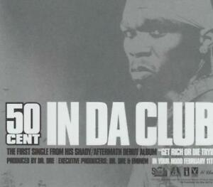 Details about 50 Cent: In Da Club PROMO MUSIC AUDIO CD 2 track Clean  Instrumental INTR-10898-2