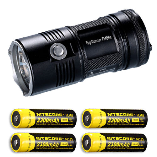 Nitecore TM06S Flashlight XM-L2 U3 LED -4000 Lumens w 4x NL183 Batteries