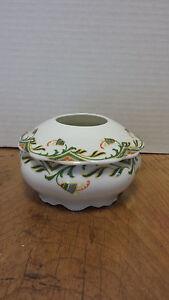 Antique porcelain Hair receiver MZ Austria handpainted Ancient Egyptian design