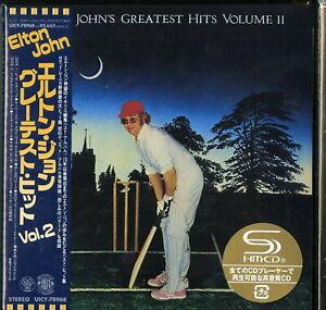 ELTON-JOHN-GREATEST-HITS-VOLUME-II-JAPAN-MINI-LP-SHM-CD-Ltd-Ed-G00