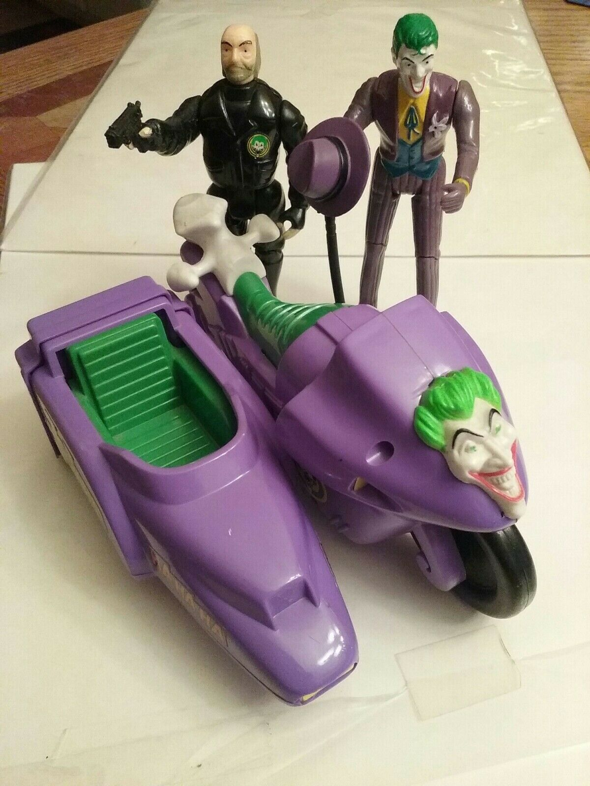 1989 BATMAN TOYS JOKER MOBILE BOB PREOWNED LOT (3)