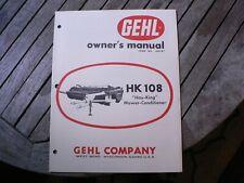 Gehl Hk108 Hay King Mower Conditioner Owner Operator Manual Start Up Guide Book