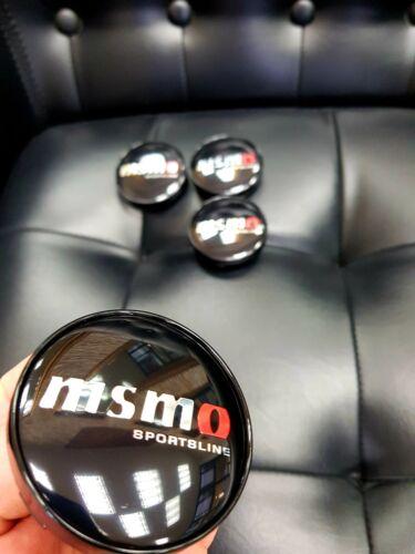 4x Nismo Sportsline 60mm Felgendeckel Nabendeckel Nabenkappen Alufelgendeckel