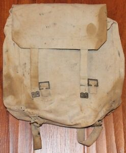 d25c44d4df Image is loading Original-WWII-1943-Military-Canvas-Bag-Backpack-by-