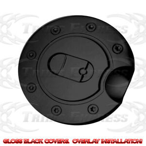 1997-2013-Ford-Expedition-97-03-F-150-Fuel-Door-Gas-Cap-Covers-Gloss-Black